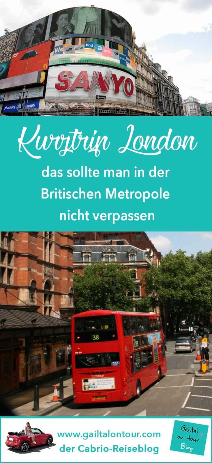 London Tipps Kurztrip