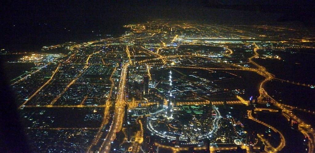 Landeanflug auf Dubai