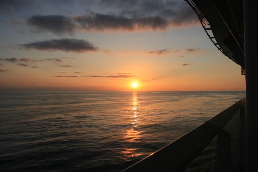 Sonnenuntergang auf der Oasis