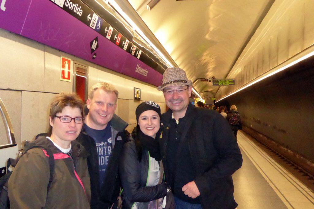 Schnappschuss in der Metro