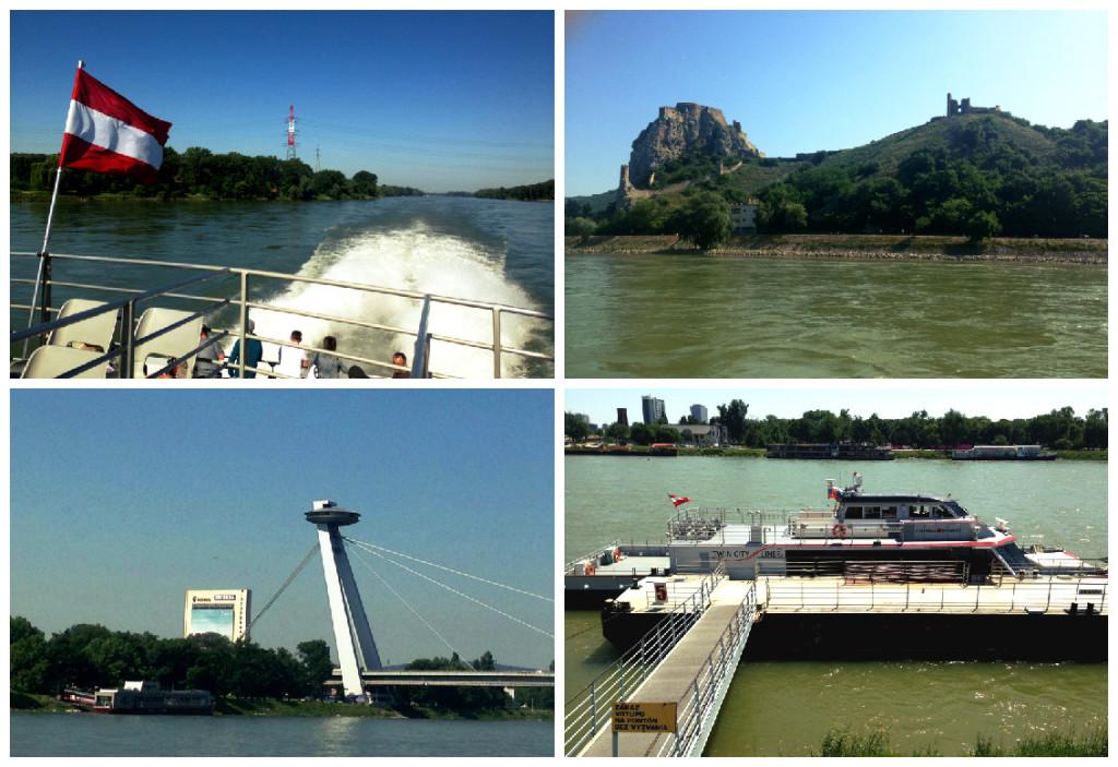 mit Twin City Liner nach Bratislava