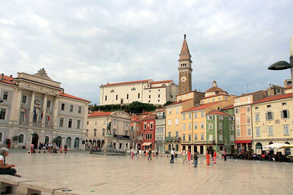 Streetlife von Piran, Slowenien