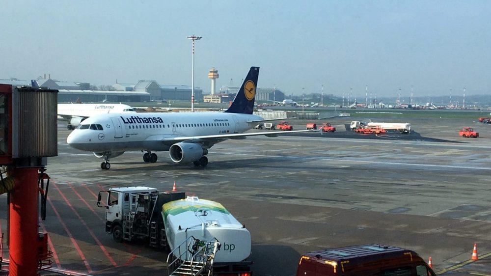 am Flughafen Hamburg