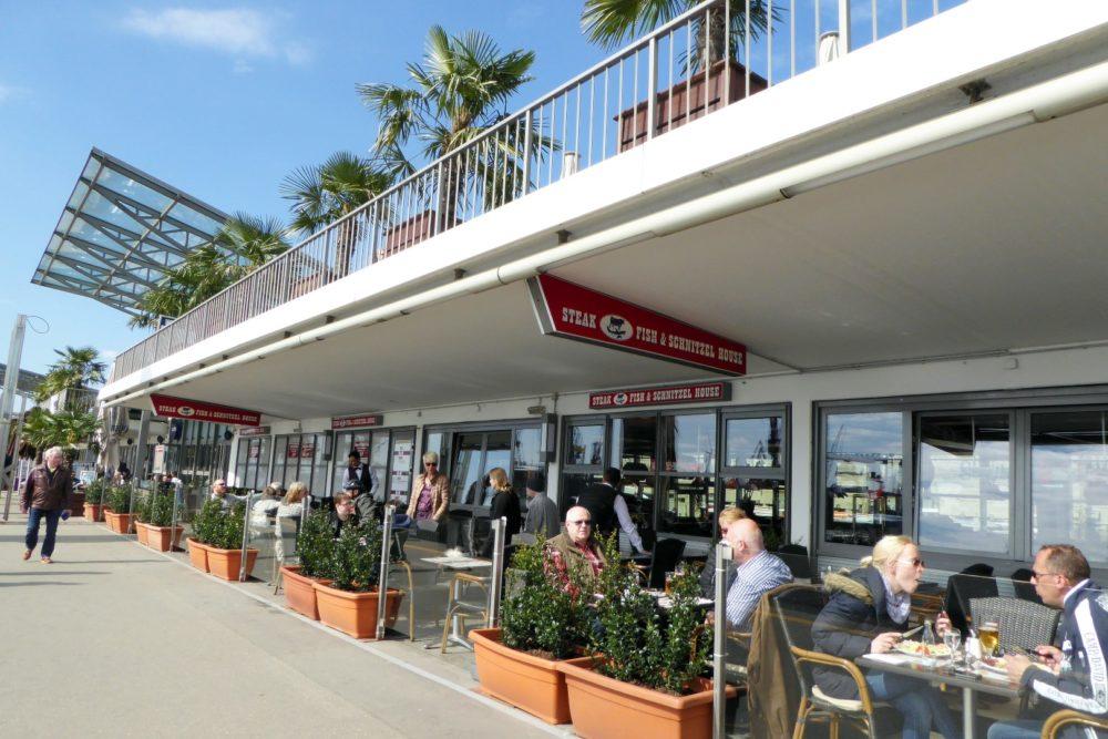 Restaurants und Bars bei den Landungsbrücken