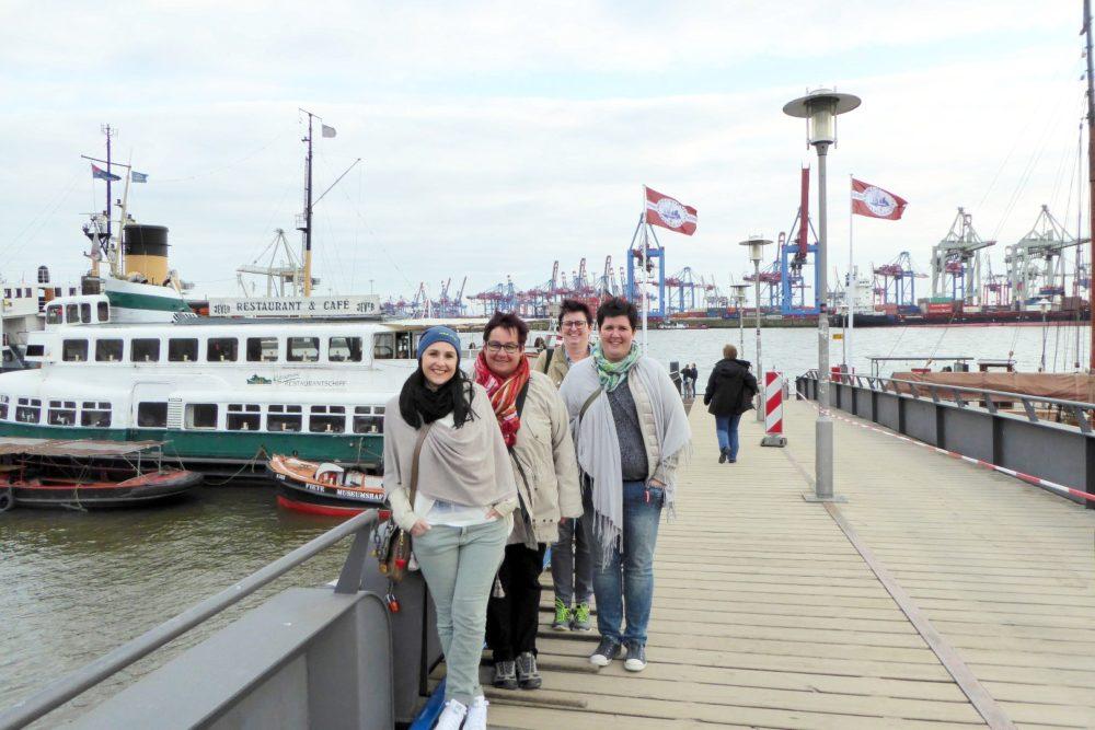 unterwegs in Blankenese bei Hamburg