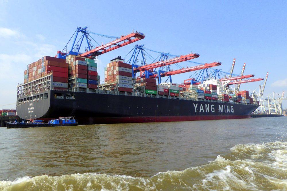 die mächtigen Containerschiffe