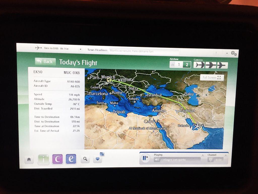 Flugübersicht-Emirates