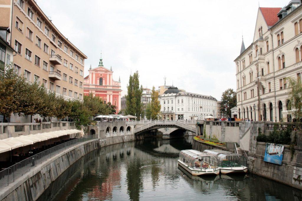 das schöne Stadtbild von Ljubljana