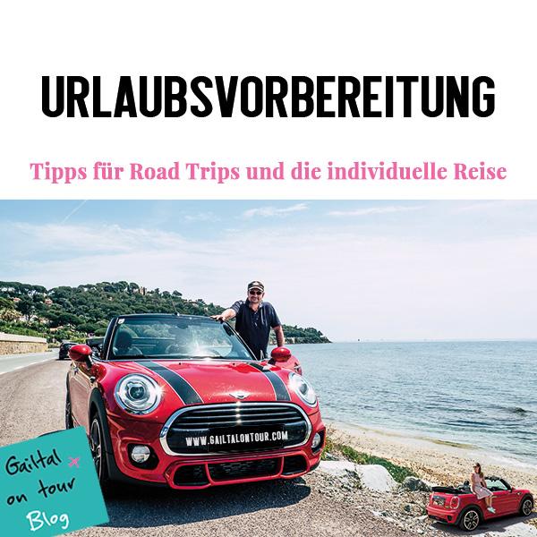 Urlaubsvorbereitung Tipps Road Trips