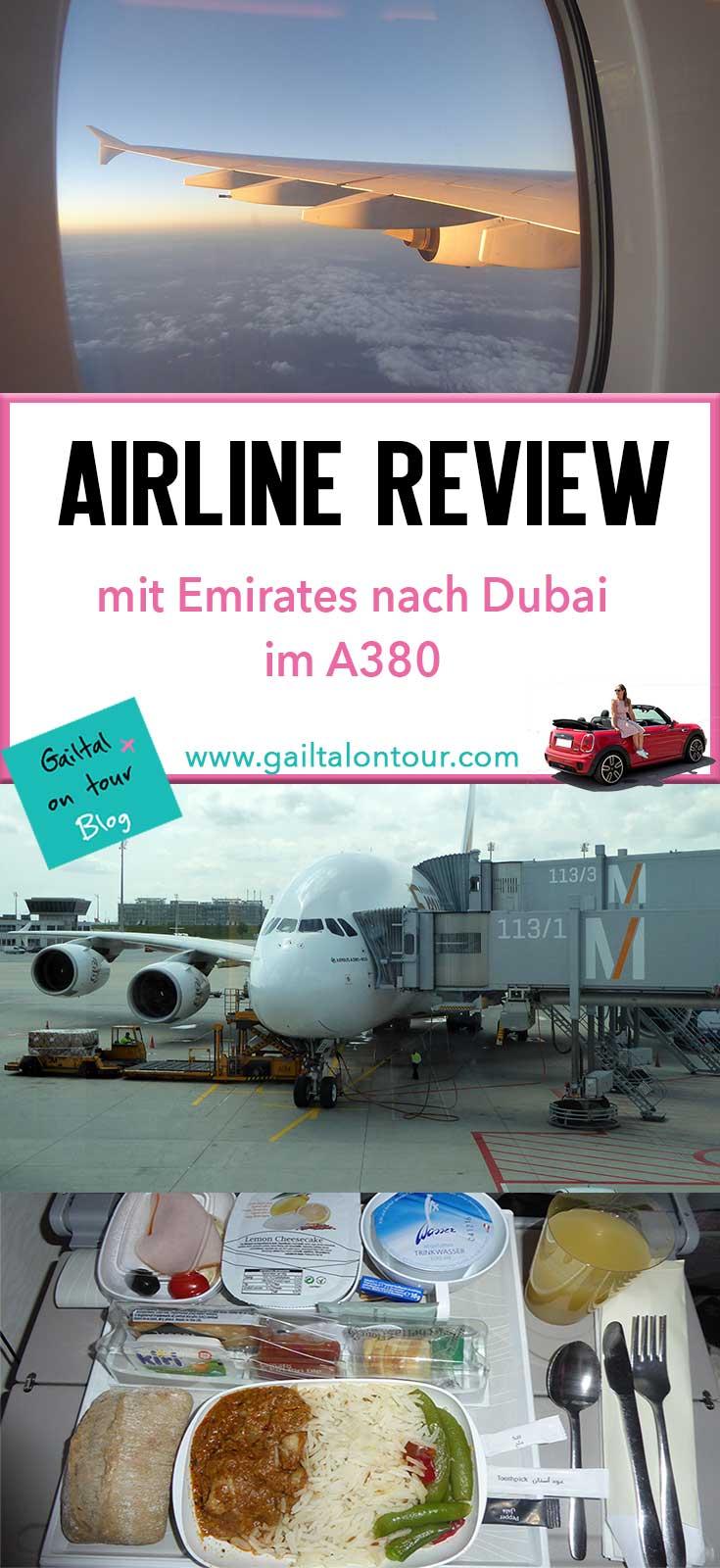 Erfahrungen beim Flug mit #Emirates. Alle Infos zum Flug mit dem #A380 nach #Dubai.