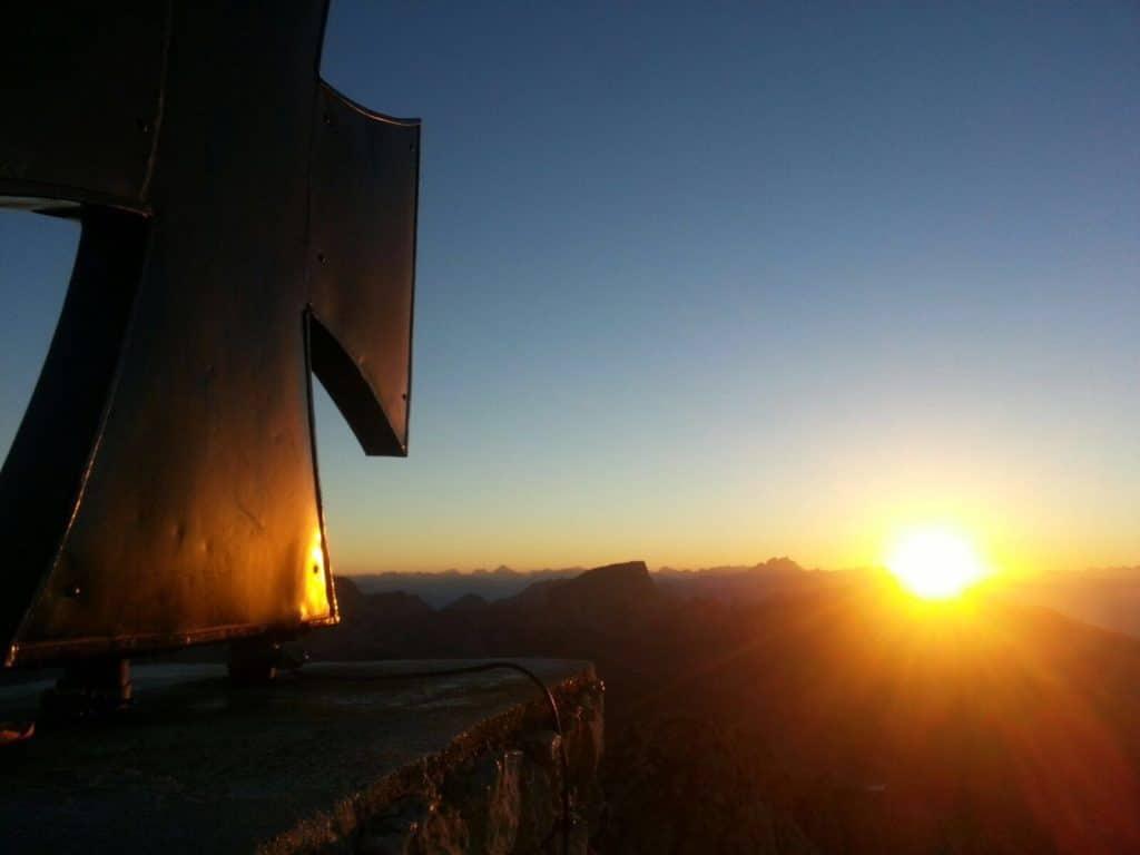 Sonnenuntergang Gartnerkofel Nassfeld