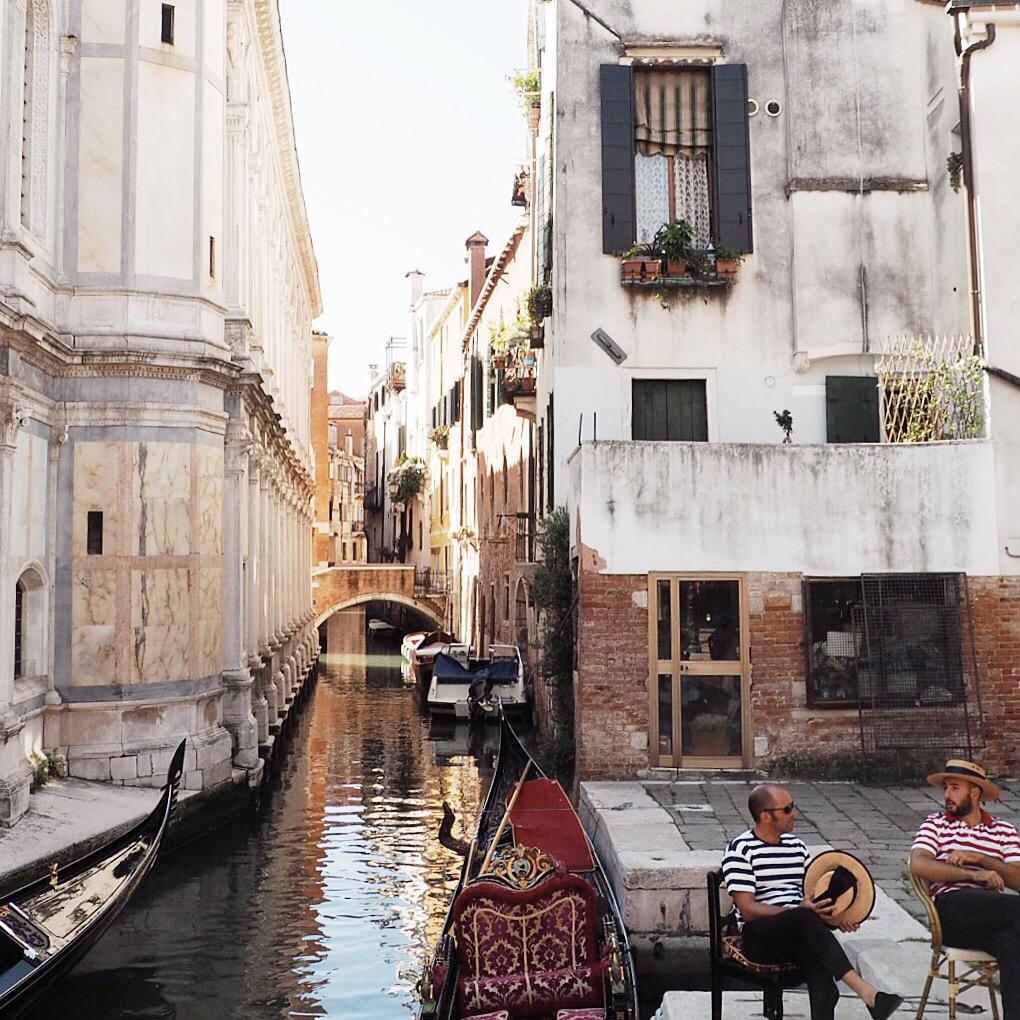 Gondoliere in Venedig