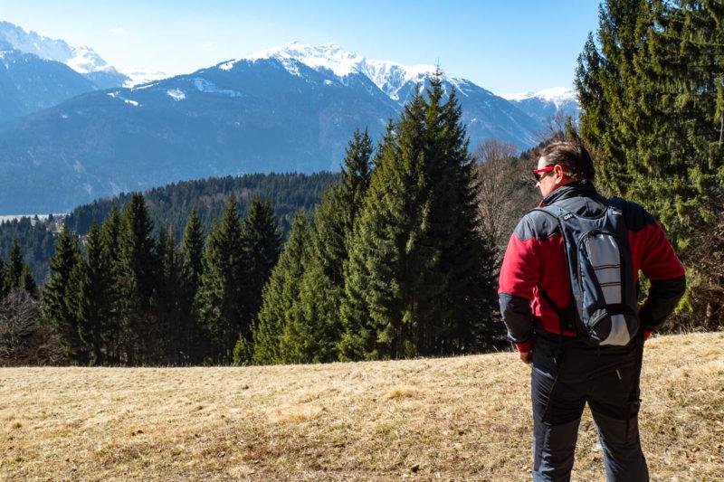 Blick zu den Karnischen Alpen