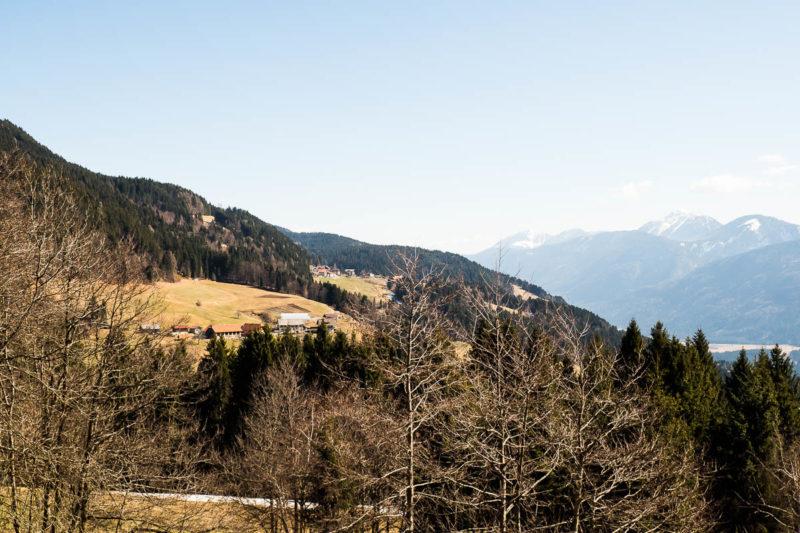 Blick von Tramun nach Kreuth