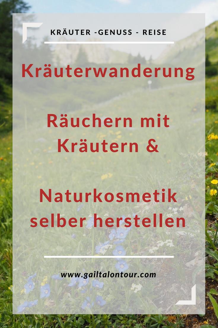 Kräuterwanderung Räuchern mit Kräutern & Naturkosmetik selber herstellen