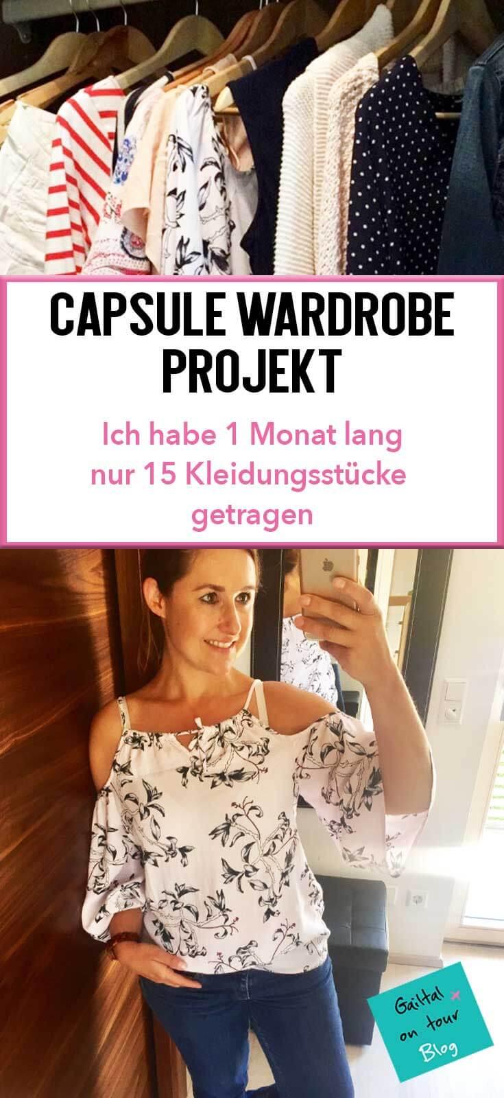 Capsule Wardrobe. Wie man mit einem minimalistischen Kleiderschrank von 15 Kleidungsstücken einen Monat lang lebet