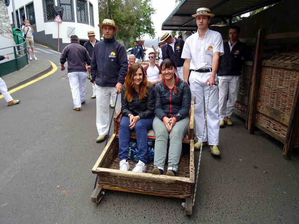 Korbschlittenfahren auf Madeira
