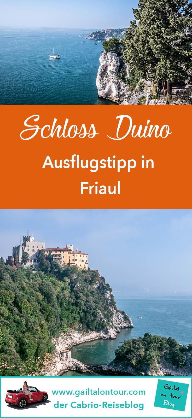 Ausflugstipp Schloss #Duino bei #Triest. Cabrio Tour ans Meer im Herbst