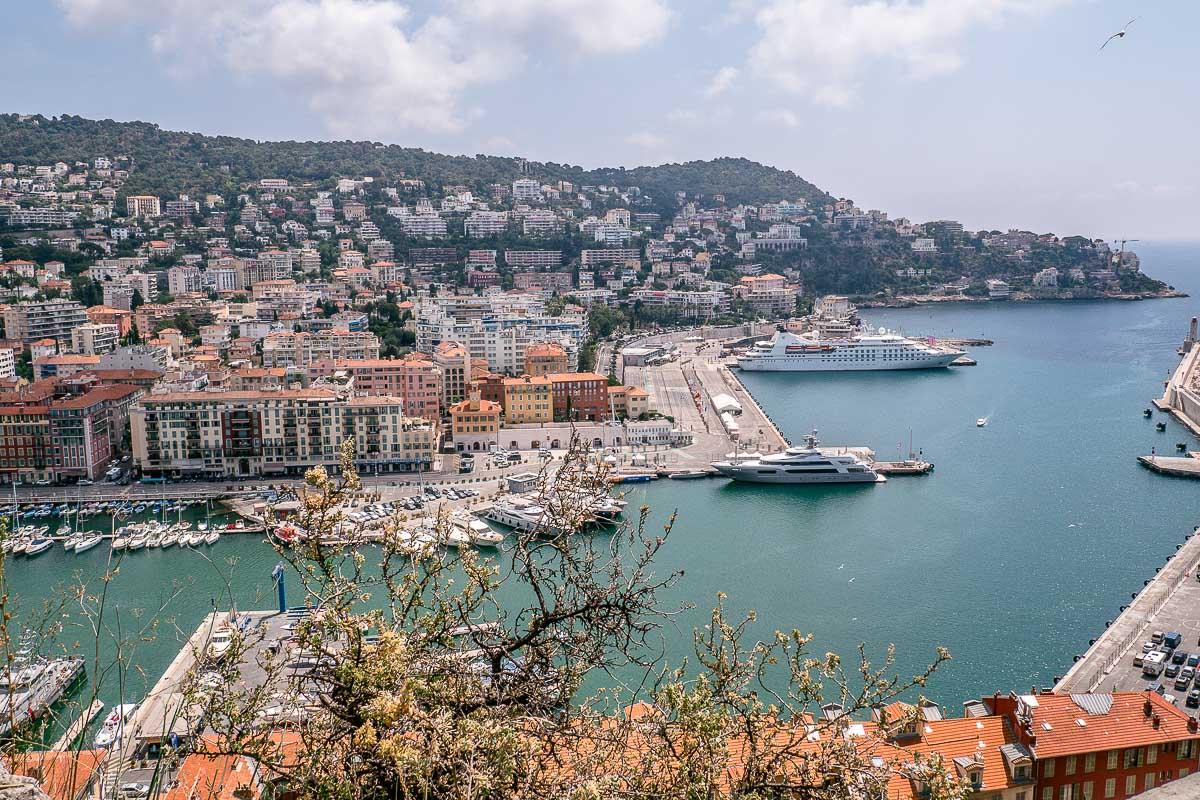 Blick-Hafen-Nizza