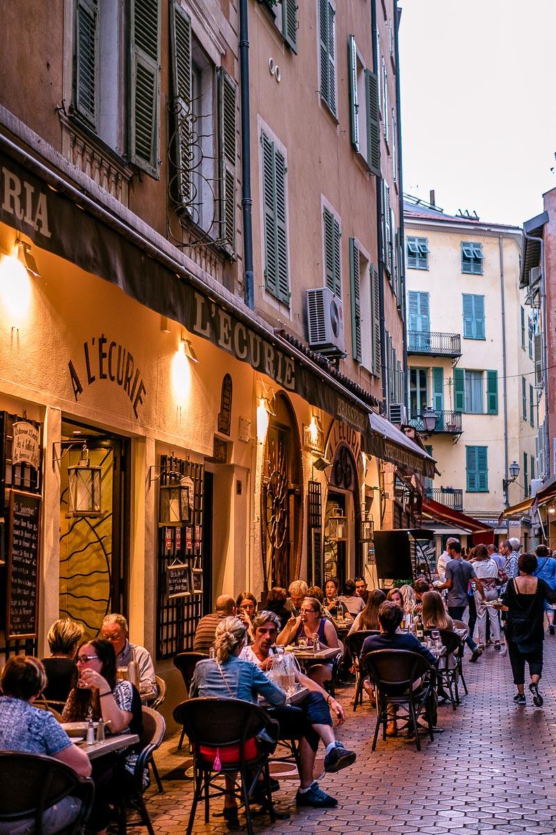 Altstadt-Nizza-Abend