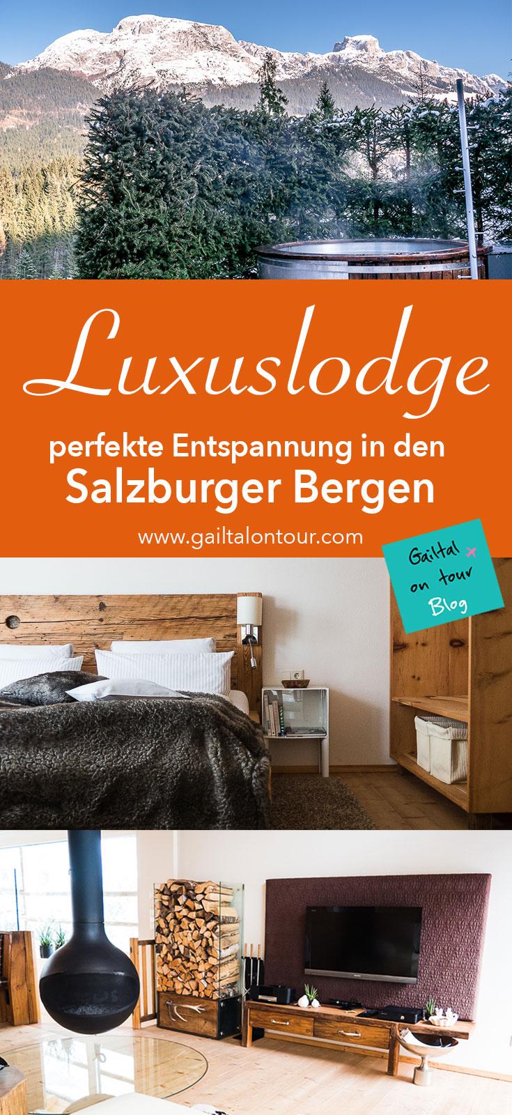 Luxus Ferienwohnung in Salzburg. Die Lodge ist der perfekte Ort für eine Auszeit vom Alltag. Kurzurlaub mit Stil: Entspannen im Private Spa oder bei Aktivitäten in der Gegend vom Dachstein-West