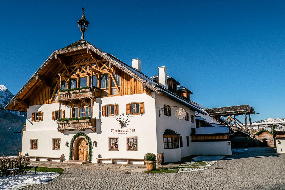 das wunderschöne Winterstellgut im Lammatal im Salzburger Tennengau