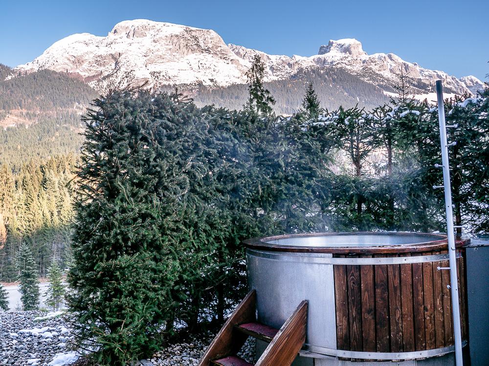 Ferienwohnung mit beheiztem Badezuber Hot Tub