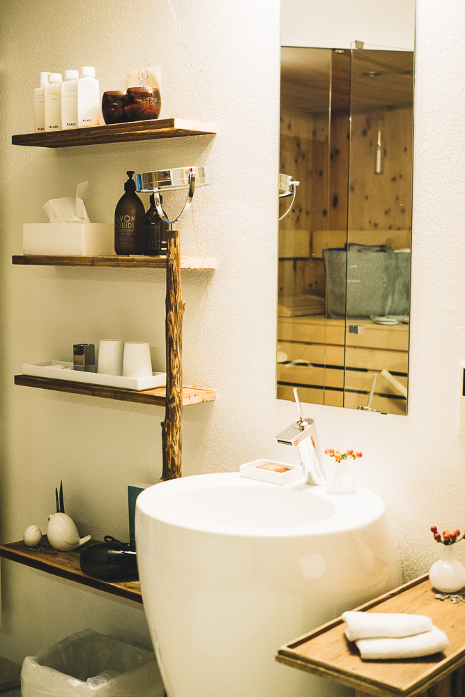 Sauna mit Badezimmer