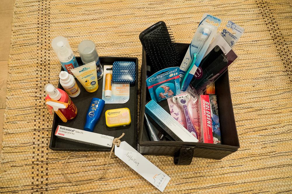 Notfallpaket für Kurzurlaub
