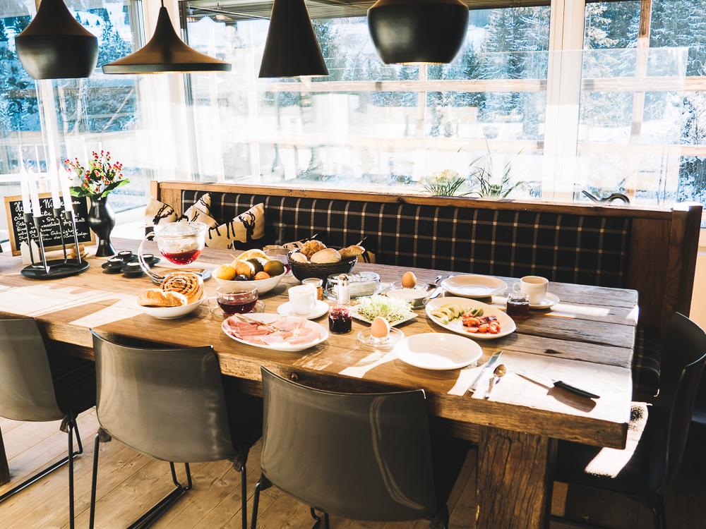 Kurzurlaub im Chalet mit Frühstücksservice