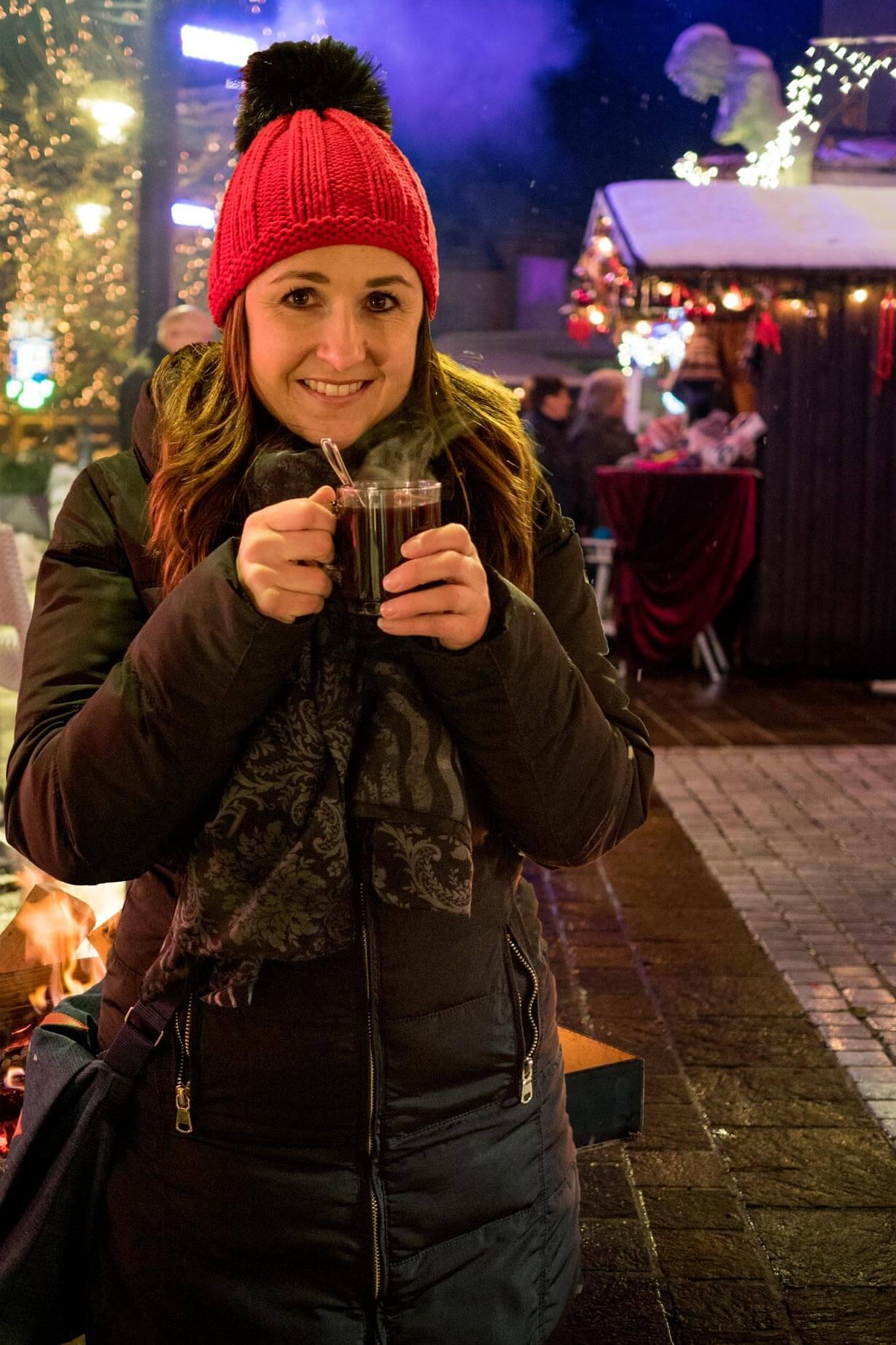 Besuch am Weihnachtsmarkt in Velden