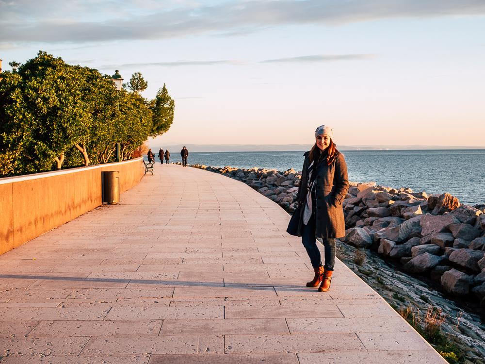 Spaziergang in Grado bei Sonnenuntergang