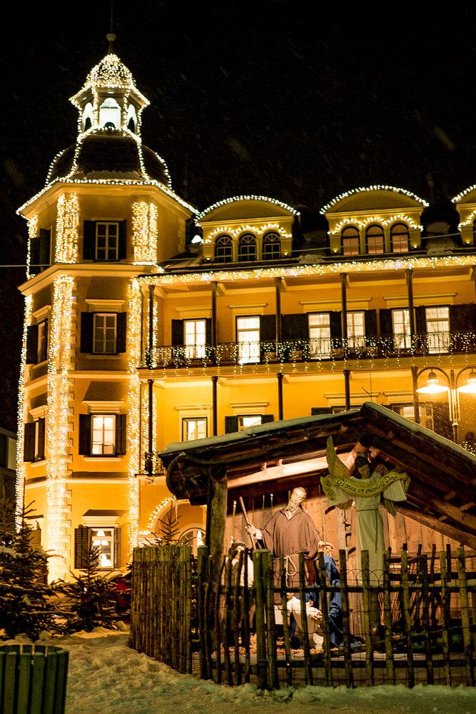 Schloss Velden zur Adventszeit