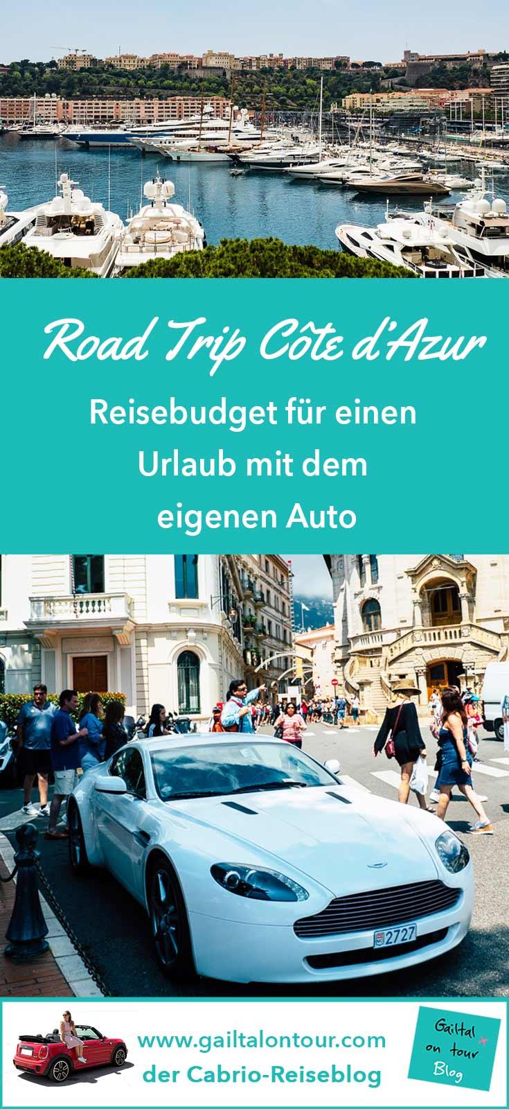 Reisekosten Urlaub Auto Côte d'Azur