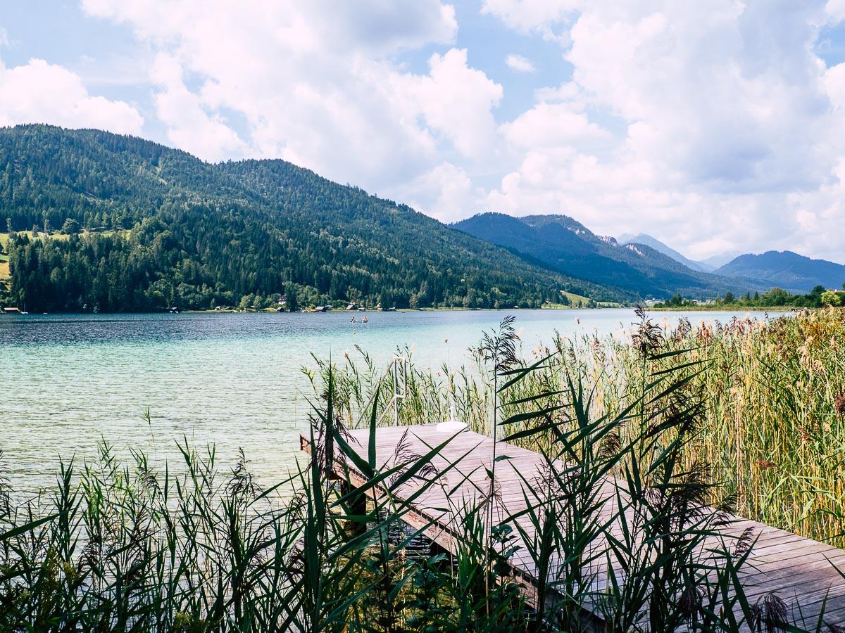 türkises Wasser am Weissensee Kärnten