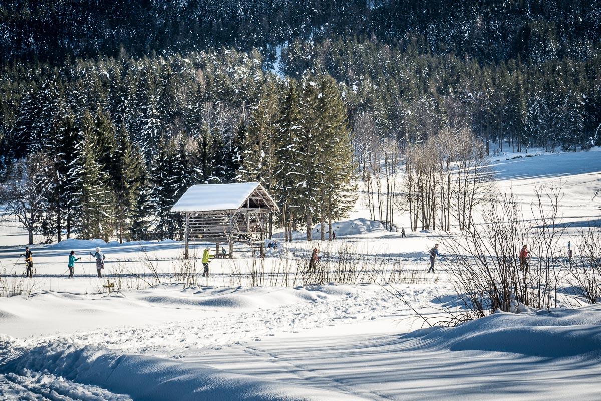 Langlaufen am Weißensee