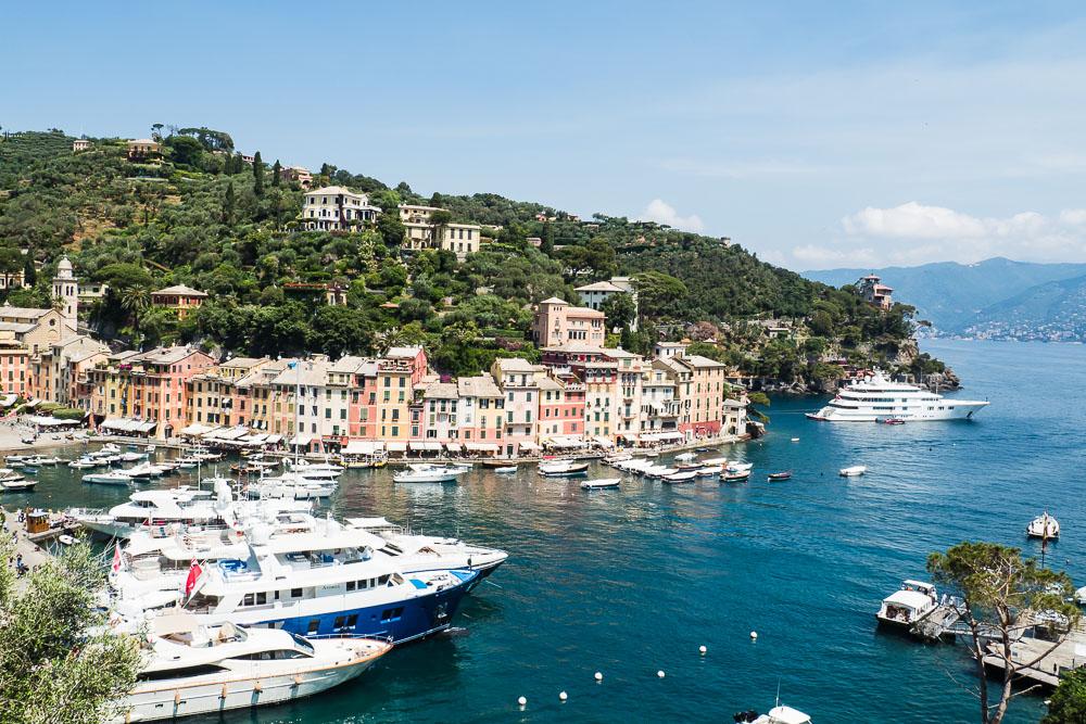 Portofino-Hafen-Riviera-Reise