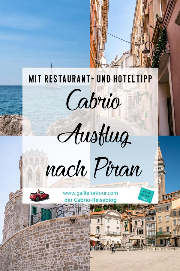 Cabrio Ausflug von Kärnten nach Piran. Ein Tag an der Küste von Istrien