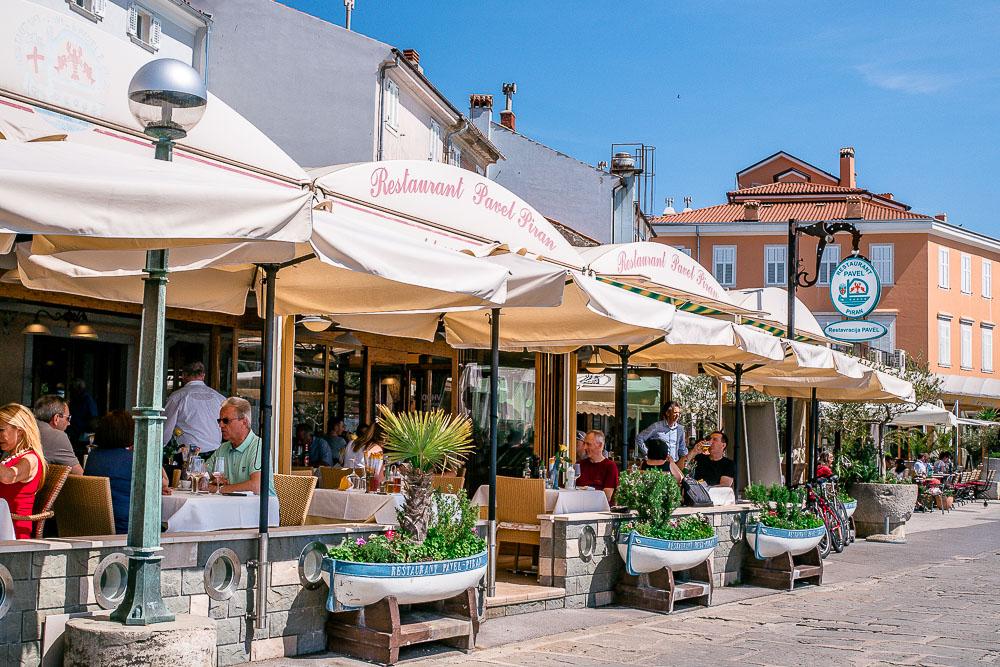 bestes Restaurant Promenade Piran