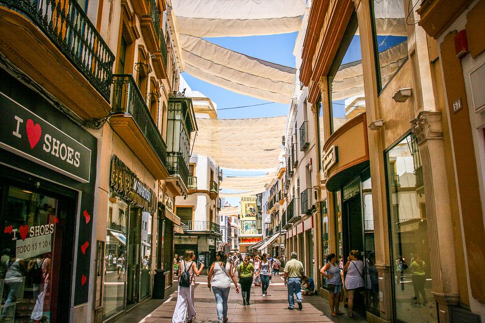 Straßen Sevilla Einkaufen