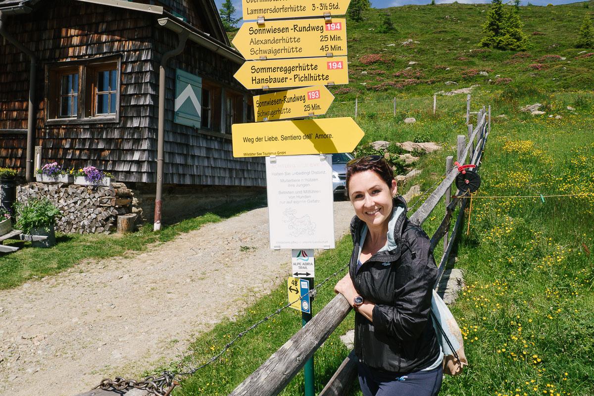 Wanderung Millstätter Hütte Weg der Liebe
