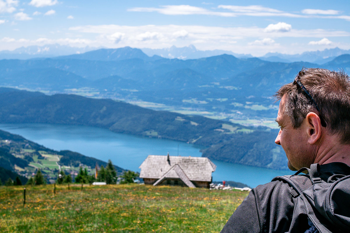 Aussicht Alexander Hütte Millstätter See