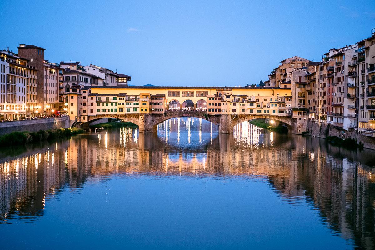 Ponte Vecchio Florenz Abendlicht