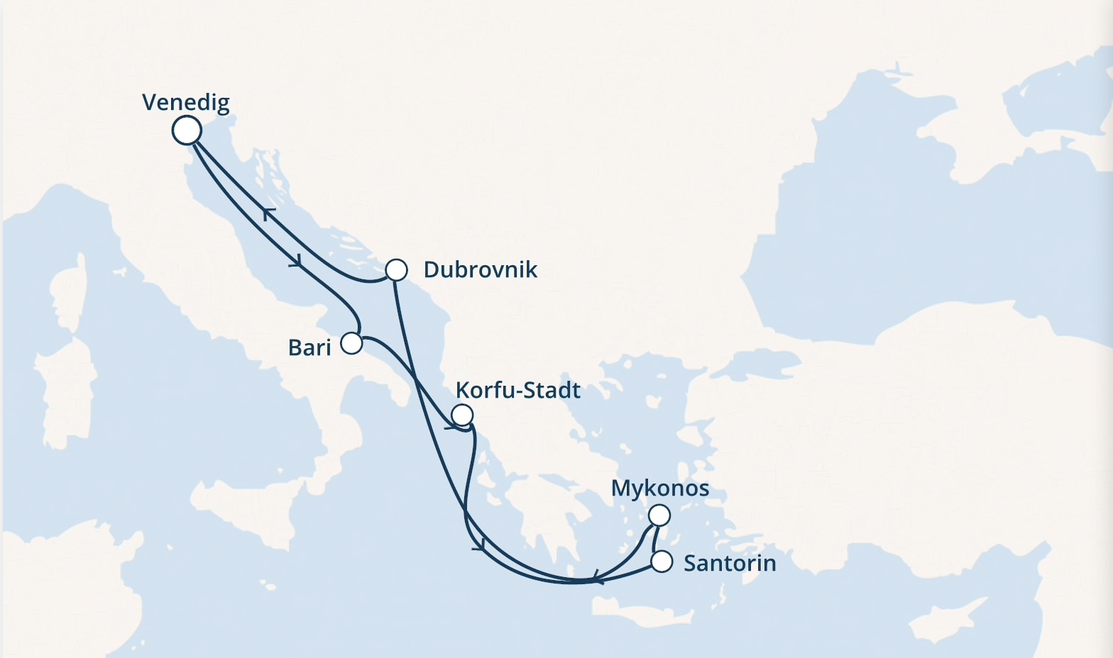 costa-route-östl-Mittelmeer