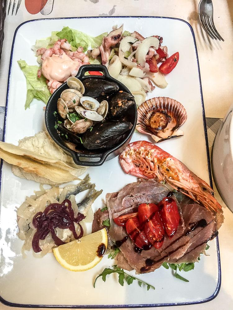 Fischplatte-Essen-Jesolo