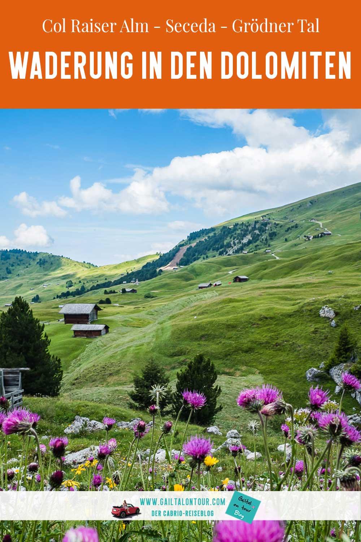 Wandern Südtirol Seceda Grödner Tal