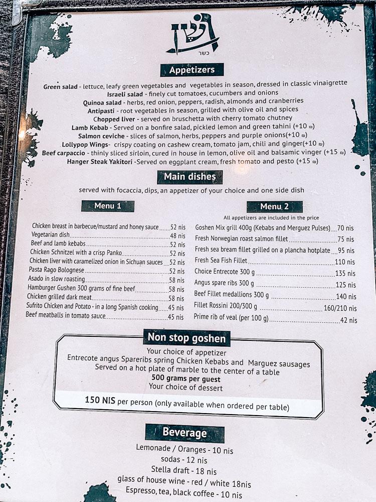 menu-goshen